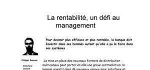 La rentabilité, un défi du management