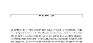 élaboration du manuel des procédures