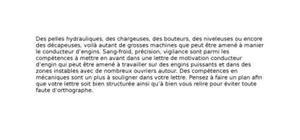Lettre de motivation conducteur d'engins