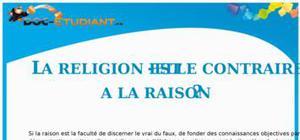 Dissertation : La religion est-elle contraire à la raison ?