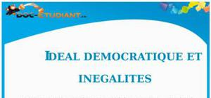 Idéal démocratique et inégalités : Cours Terminale ES