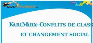 Karl Marx - Conflits de classe et Changement social : Cours Terminale ES