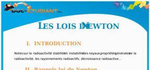 La mécanique de Newton : Cours Terminale S