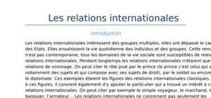 Les relations internationales (partie 1)