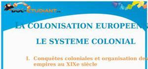 La colonisation européenne : Cours Terminale L