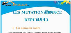 Les mutations en France depuis 1945 : Cours terminale S – L