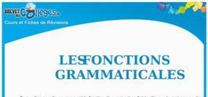 Les fonctions grammaticales : Fiche de révision brevet