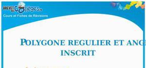 Polygone Régulier Et Angle Inscrit : Fiche De Révision Brevet
