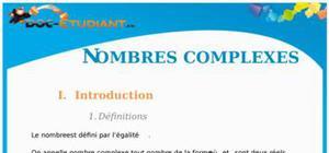 Les nombres complexes : Cours Terminale S