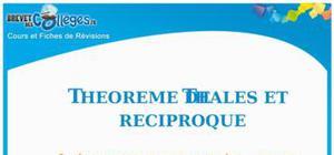 Théorème de Thalès et réciproque : Fiche de révision Brevet