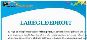 La Règle de Droit : Cours Droit Première STG