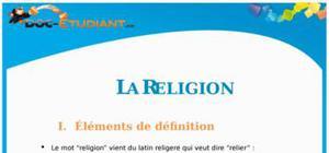 La Religion : Cours Terminale ES - S