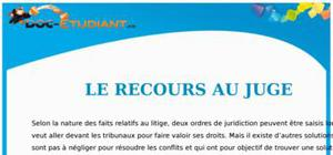 Le Recours au Juge : Cours  Droit Première STG