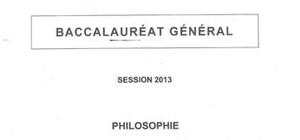 Sujets Philosophie Pondichéry 2013 : Bac S