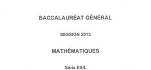 Sujet Général de Maths Pondichéry 2013 : Bac ES