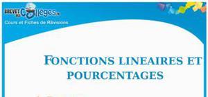 Fonctions Linéaires et Pourcentages : Fiche de Révision Brevet