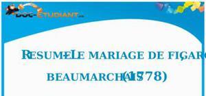 Résumé Le Mariage de Figaro de Beaumarchais - ES - L