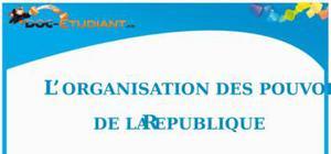 L'Organisation des Pouvoirs de la République : Cours d'ECJS de Collège
