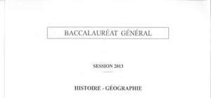 Sujet Histoire - Géographie Washington 2013 : Bac ES - L