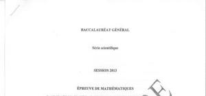 Sujet Maths Washington 2013 : Bac S