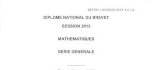 Sujet Brevet Mathématiques Washington 2013
