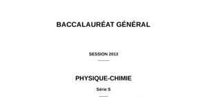 Sujet de Physique-Chimie Bac S