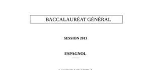 Sujet Espagnol Bac S 2013