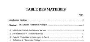 Cours d'économie politique en DEUG (1ère année)
