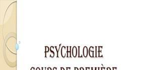 Psychologie : cours de première année (tronc commun)