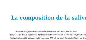 La composition de la salive