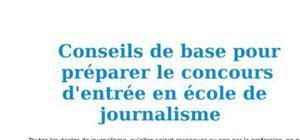 Conseils pour préparer le concours d'entrée en école de journalisme