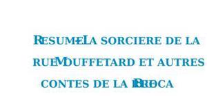Résumé des Contes de la rue Broca de Pierre Gripari