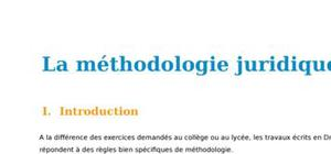La méthodologie juridique