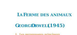 Fiche de lecture : La Ferme des animaux, George Orwell