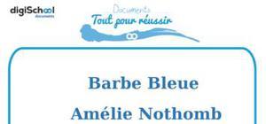 Fiche de lecture : Barbe Bleue d'Amélie Nothomb