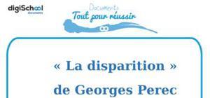 Fiche de lecture : La Disparition de Georges Perec