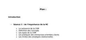 Gestion de la relation client