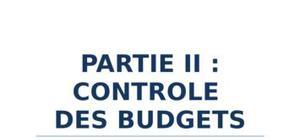 Contrôle des budgets