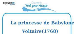 Fiche de lecture : La princesse de Babylone de Voltaire