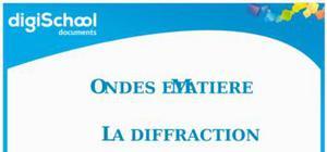Fiche révision bac physique : l'effet Doppler, la diffraction, les interférences et ondes et matières