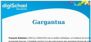 Résumé de Gargantua de Rabelais