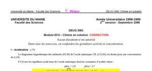 Chimie analytique : Exercice et corrigé