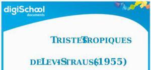 Résumé tristes tropiques de Levi-Strauss