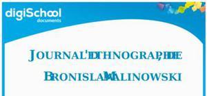 Journal d'ethnographe de Bronislaw Malinowski