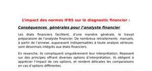 L'impact des normes IFRS sur le diagnostic financier