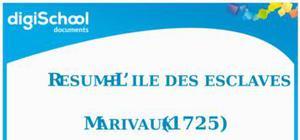 """Résumé Gratuit  """" L'île des esclaves"""" Marivaux"""
