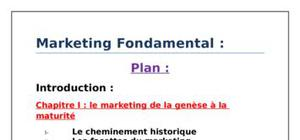 Le marketing fondamental les 4p
