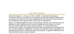Légitime défense  en droit pénal