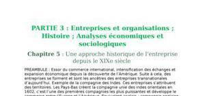 Entreprises et organisations - Analyse historique et économique