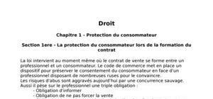 Droit, la protection du consommateur